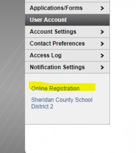 Screenshot for Online Registration